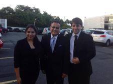 Kathia Rodríguez,Ismael Miranda y Marco Jiménez